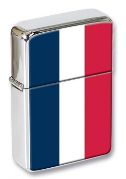 France (Flag) Flip Top Lighter