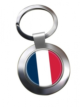 France (Flag) Metal Key Ring