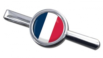 France (Flag) Round Tie Clip