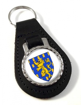 Franche-Comte (France) Leather Key Fob
