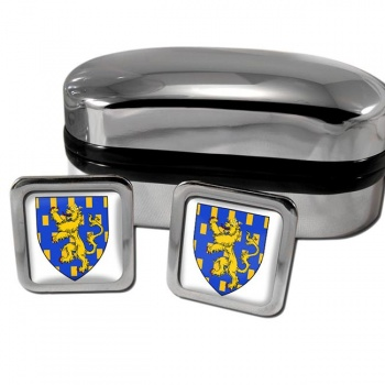 Franche-Comte France Square Cufflinks