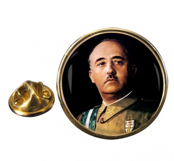 Generalissimo Franco Round Pin Badge