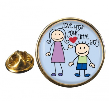 Love From Your Little Boy Round Pin Badge