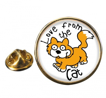 Love from the cat Round Pin Badge