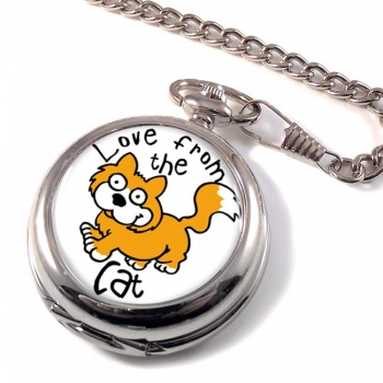 Love from the cat Pocket Watch