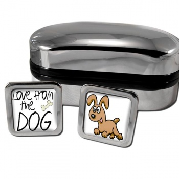 Love from the dog Square Cufflinks
