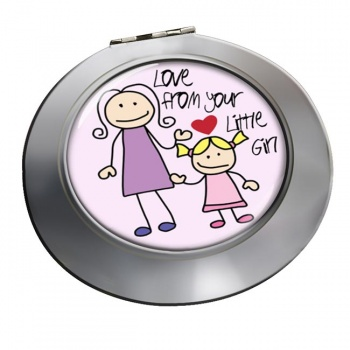 Love From Your Little Girl Chrome Mirror