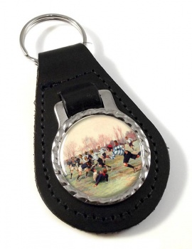French Rugby at St. Cloud 1906 Leather Key Fob