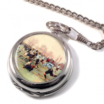 French Rugby at St. Cloud 1906 Pocket Watch