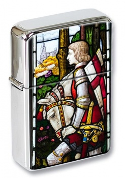 Sir Galahad - Stain Glass Flip Top Lighter