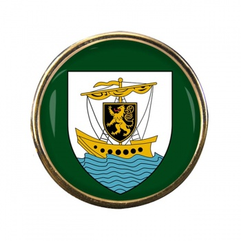 Galway City (Ireland) Round Pin Badge