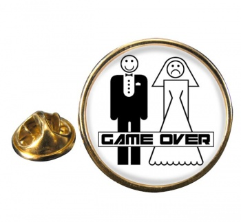 Game Over Divorced Round Pin Badge