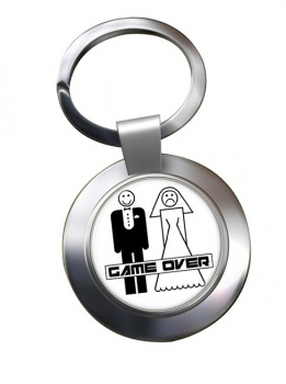 Game Over Divorced Chrome Key Ring