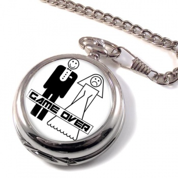 Game Over Divorced Pocket Watch