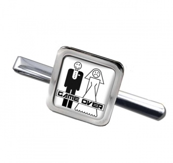 Game Over Divorced Square Tie Clip