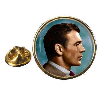 Gary Cooper Round Pin Badge