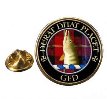 Ged Scottish Clan Round Pin Badge