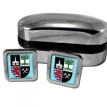 Gelsenkirchen Germany Square Cufflinks