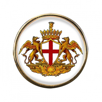 Genoa (Italy) Round Pin Badge