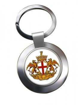 Genoa (Italy) Metal Key Ring