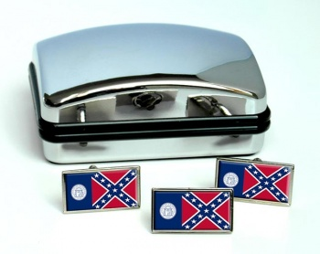 Georgia 1956–2001  Flag Cufflink and Tie Pin Set