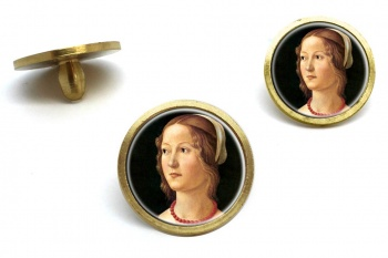 Young Woman by Domenico Ghirlandaio Golf Ball Marker Set
