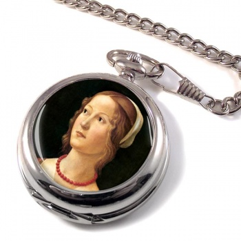 Young Woman by Domenico Ghirlandaio Pocket Watch