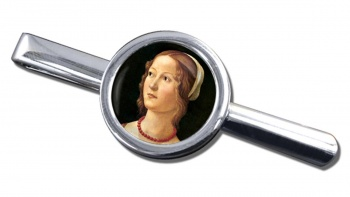 Young Woman by Domenico Ghirlandaio Round Tie Clip