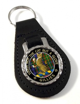 Gillies Scottish Clan Leather Key Fob