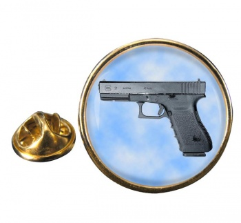 Glock 21 Pistol Round Pin Badge