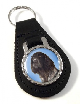 German Longhaired Pointer Leather Key Fob