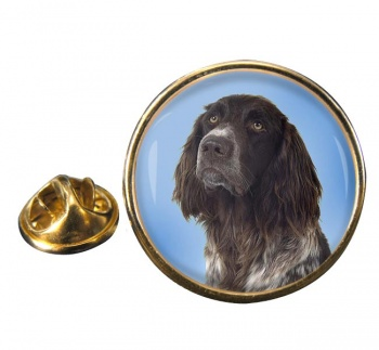 German Longhaired Pointer Round Pin Badge