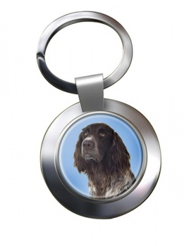 German Longhaired Pointer Metal Key Ring