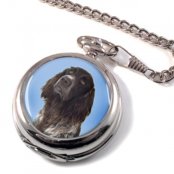 German Longhaired Pointer Pocket Watch