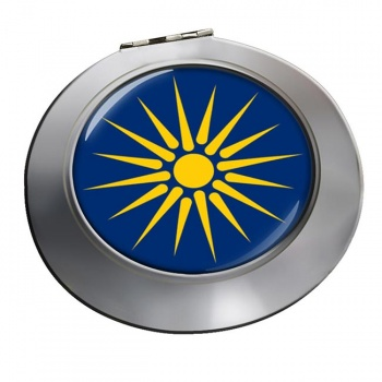 Macedonia (Greece) Round Mirror