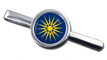 Macedonia (Greece) Round Tie Clip
