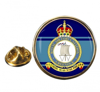 Greenock Round Pin Badge
