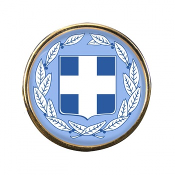 Greece Round Pin Badge