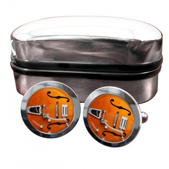 Gretsch Guitar Round Cufflinks