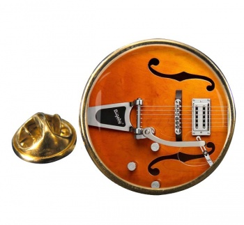 Gretsch Guitar Round Pin Badge