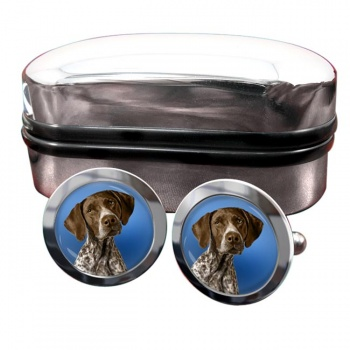 German Shorthaired Pointer  Round Cufflinks