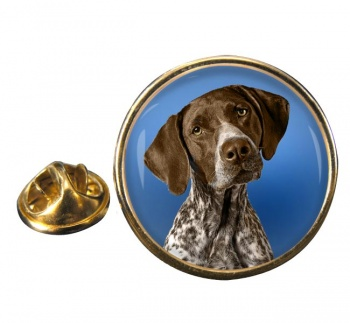 German Shorthaired Pointer Round Pin Badge