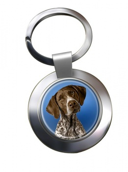 German Shorthaired Pointer Metal Key Ring