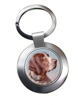 German Shorthaired Pointer by Carl Reichert Metal Key Ring