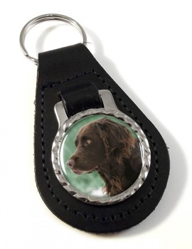 Deutscher Wachtelhund Leather Key Fob