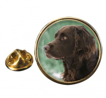 Deutscher Wachtelhund Round Pin Badge
