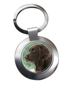 Deutscher Wachtelhund Metal Key Ring