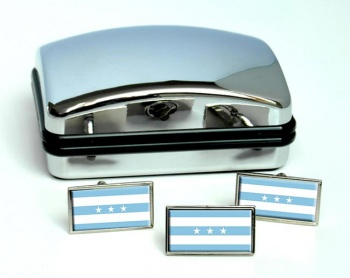 Guayaquil Flag Cufflink and Tie Pin Set