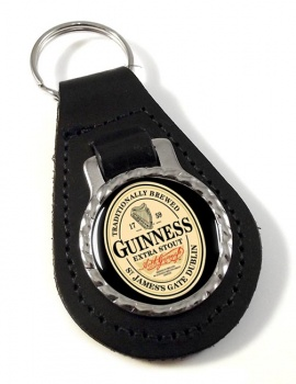 Guinness Leather Key Fob