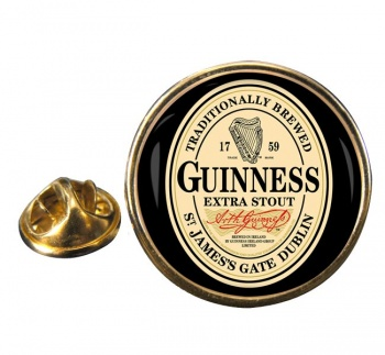 Guinness Round Pin Badge